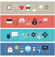 Set of flat design banners for web b vector image