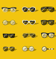 Set of realistic glasses vector image