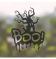 boo icon on blurred background vector image