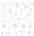 Hand draw element christmas of doodle vector image