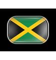 Flag of Jamaica Rectangular Shape vector image