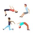 Parkour trick people extreme sport vector image