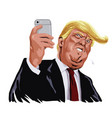 donald trump and social media cartoon vector image