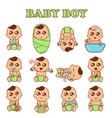 baby boy set cute boys in vector image