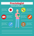 future profession proctologist infographic vector image