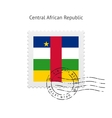 Central African Republic Flag Postage Stamp vector image