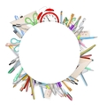 School supplies on white EPS 10 vector image vector image