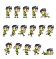 Sporty Boy Game Sprites vector image vector image
