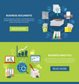 business items banner set vector image