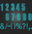 Chalkboard Numbers collections Chalk Numbers vector image