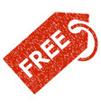 free tag grunge icon vector image