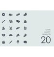 Set of bakery products icons vector image