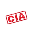 CIA Text Rubber Stamp vector image