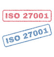 iso 27001 textile stamps vector image