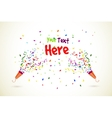 Party popper background vector image vector image