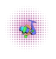 Fishing reel icon comics style vector image vector image