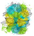 composition with decorative flowers vector image vector image