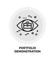 Portfolio Demonstration Line Icon vector image