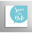 Save the date phrase lettering vector image