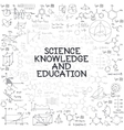 Hand drawn doodle formulas Science knowledge vector image