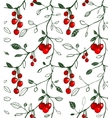 Cherry Berry Seamless Pattern vector image