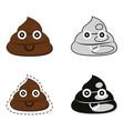 cute poop set vector image