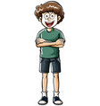 doodle character for hipster boy vector image