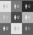 female sign grayscale vector image