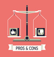 Pros and Cons vector image