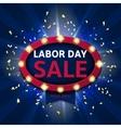 Retro symbol for labor day sale vector image