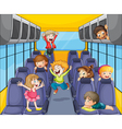 Kids in the bus vector image