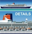 hi-detailed cruise ship vector image vector image