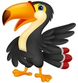 Cute toucan cartoon presenting vector image vector image