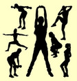 training female sport silhouette vector image