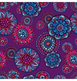 Ornamental fantasy floral seamless pattern vector image