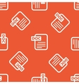 Orange DOC file pattern vector image