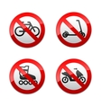 set prohibited signs - active sports vector image