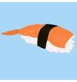 Shrimp cartoon sushi japanese food isolated on vector image vector image