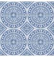 azulejo seamless portuguese tile blue pattern vector image