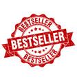 Bestseller stamp sign seal vector image