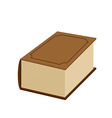 Big fat old book on a white background vector image