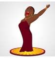 black jazz opera singer vector image