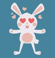 Cute Bunny Crazy in Love vector image