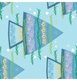 Fish seamless pattern vector image