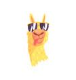 funny llama character in sunglasses cute alpaca vector image