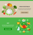 healthy eating banner set vector image