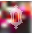 lantern icon on blurred background vector image