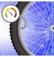 Manometer and Part of Bicycle Wheel vector image