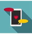 Phone icon flat style vector image