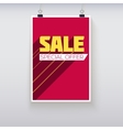 Sale Poster with Long Shadow vector image
